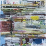 Farbimprovisation Quadrat (12) Eitempera, Papier, Leinwand, 2013-2014, 80x80 cm