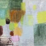 Kleine Farbimprovisation, Eitempera, Chinapapier, Pressspanplatte, 34,5x37,5 cm