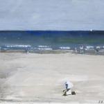 Juist (48) Aquarellfarbe, Gouache, Papier, MDF Platte, 2014 30x24 cm