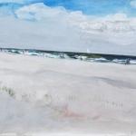 Juist (52) Aquarellfarbe, Gouache, Papier, MDF Platte, 2014 30x24 cm