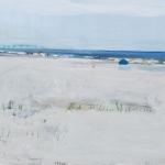 Juist (54) Aquarellfarbe, Gouache, Papier, MDF Platte, 2014, 30x24 cm