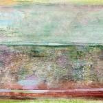 Landschaft am Meer (1), Eitempera,Papier, Leinwand, 20013, 80 x 100 cm