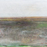 Landschaft am Meer (2) Eitempera,Papier, Leinwand, 2013, 67,5 x 100 cm