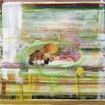 Stillleben mit Äpfeln, Nüssen und Orangen, Eitempera, Leinwand, 2013, 54 x 54 cm