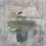 Stillleben mit Bellis, Eitempera, Kreide Pressspanplatte, 2011, 36,5 x 34 cm