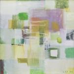 Kleine Grüne Improvisation (7), Eitempera, Leinwand, 2011, 50 x 50 cm