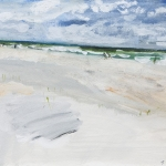 Juist (51) Aquarellfarbe, Gouache, Papier, MDF Platte, 2014 30x24 cm