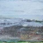 Landschaft am Meer (2), Eitempera,Papier, Leinwand, 2013, 66,5x100 cm