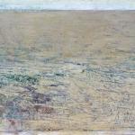 Landschaft am Meer (3), Eitempera,Papier, Leinwand, 2013, 69,5x102,5 cm