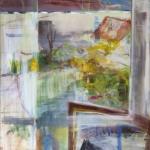 Fensterausblick (4) Goldwäschergasse Eitempera, Leinwand, 2009, 108 x 90 cm