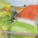 Fensterausblick (5) Plüschow Eitempera, Leinwand, 2011, 108 x 90 cm