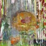 Stillleben mit Blumenstrauß und Orangen, Eitempera, Leinwand, 2009, 75 x 64 cm