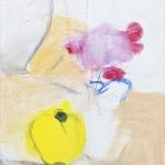 Stillleben mit Quitte, Eitempera, Leinwand, 2009, 44,5 x 35 cm