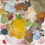 Stillleben mit gelber Vase, Eitempera, Pressspanplatte, 2007, 49 x 50 cm (2)